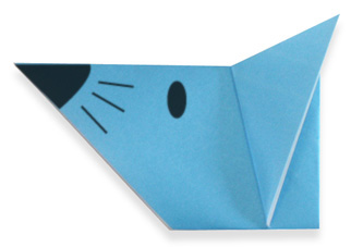 Мордочка мыши. Оригами.