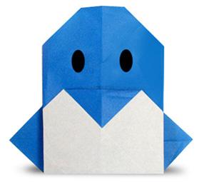 Пингвин. Оригами.